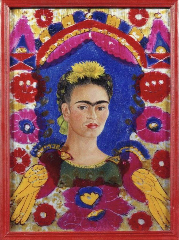 Frida Kahlo, The Frame, 1938, Centre Pompidou, Paris, France.