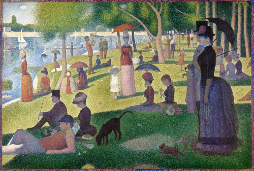 Georges Seurat, A Sunday Afternoon on the Island of La Grande Jatte, 1884-86, Art Institute of Chicago, Chicago, U.S.A. Rivers in paintings.