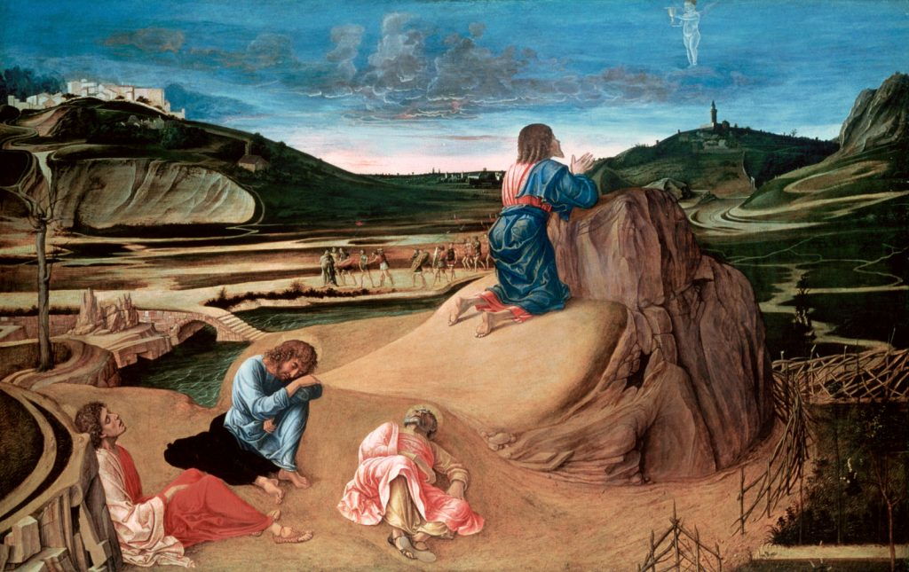 Giovanni Bellini, The Agony in the Garden, 1465, National Gallery, London, UK. painters of the Venetian Renaissance.