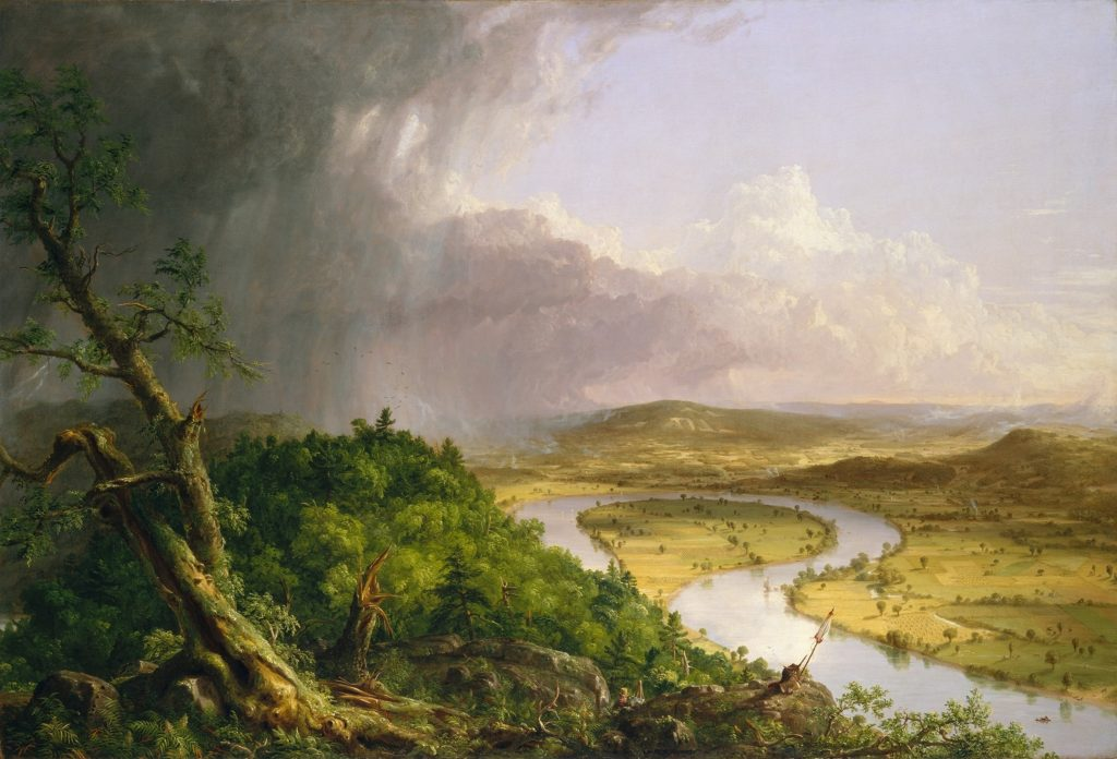 Thomas Cole, The Oxbow, 1836, The Metropolitan Museum of Art, New York, U.S.A. Rivers in paintings.