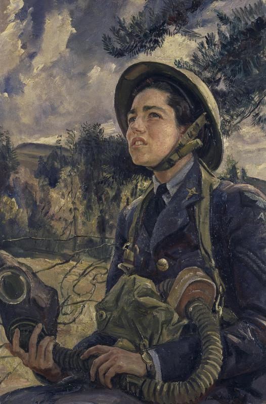 Dame Laura Knight, Corporal J.D.M Pearson GC, WAAF, 1940, Imperial War Museums, London, UK.