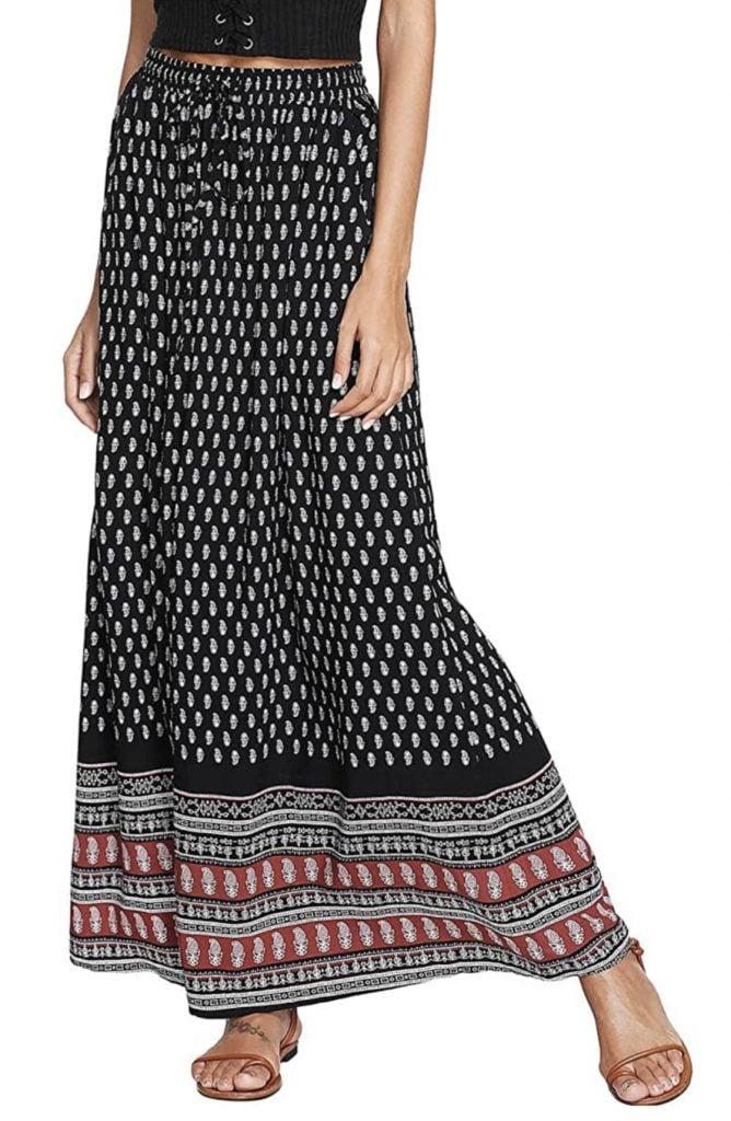 Milumia Women's Boho Vintage skirt, Frida Kahlo's style.