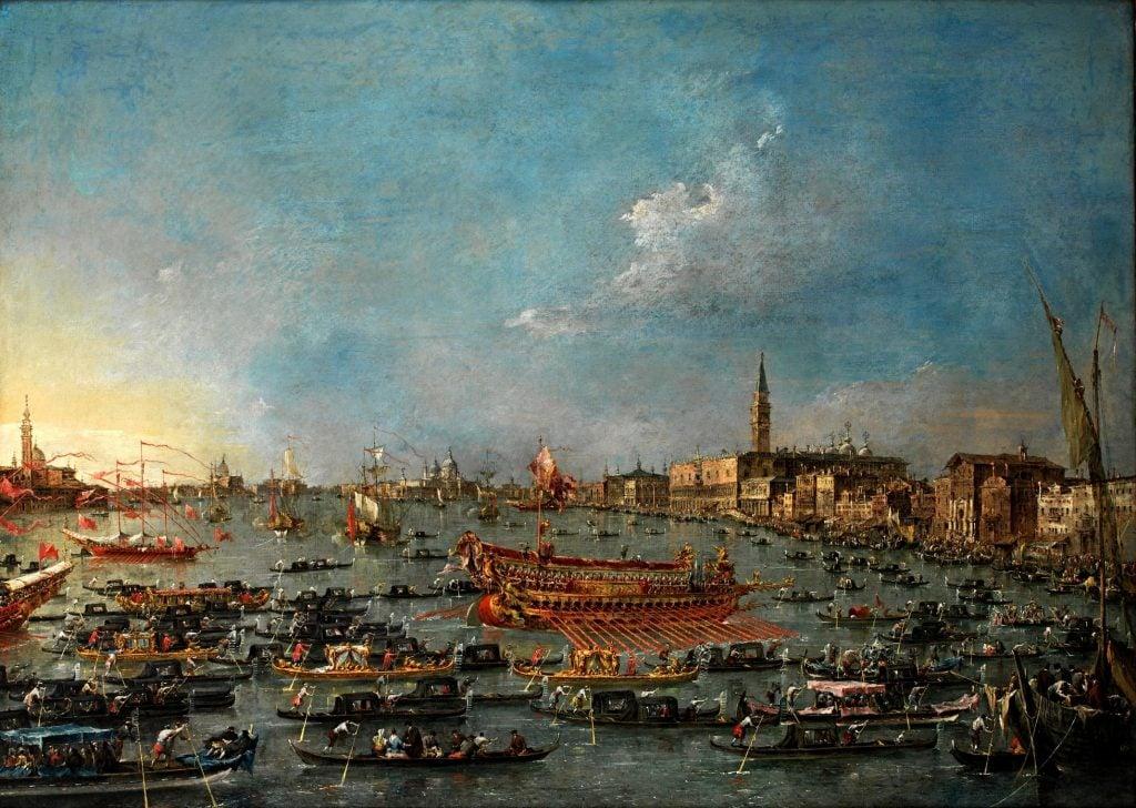 Francesco Guardi, Bucintoro Festival of Venice, 1727-1793, Statens Museum for Kunst, Copenhagen, Denmark.