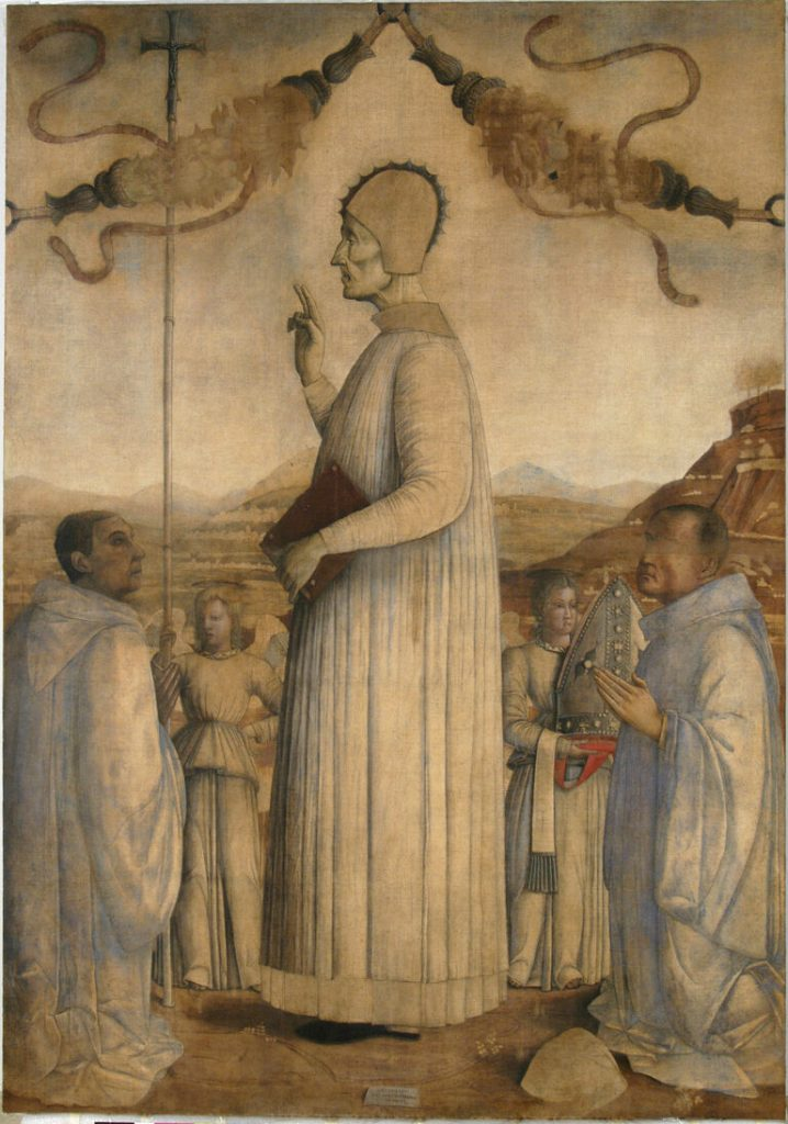 Gentile Bellini, The Blessed Lorenzo Giustiniani, 1445, Galleria dell'accademia, Venice, Italy. painters of the Venetian Renaissance.