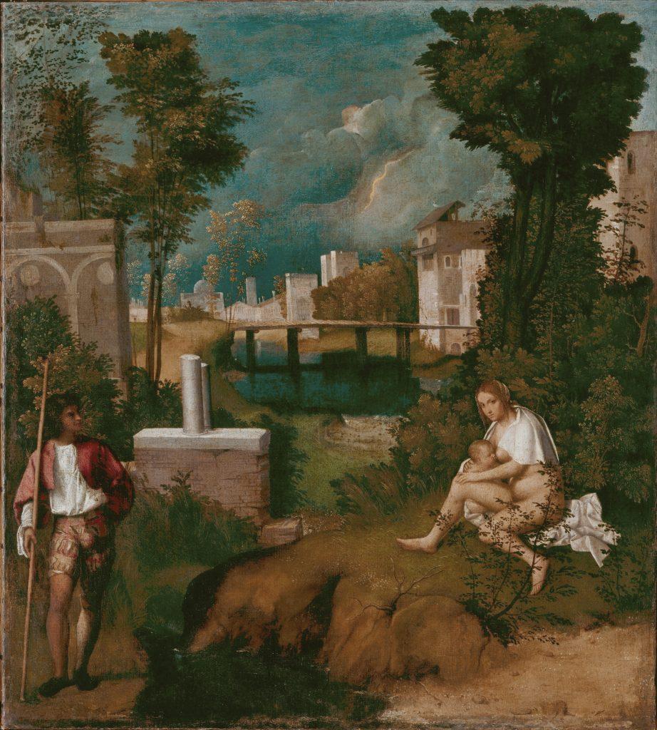 Giorgione, The Tempest, 1508, Gallerie dell'Accademia, Venice, Italy.