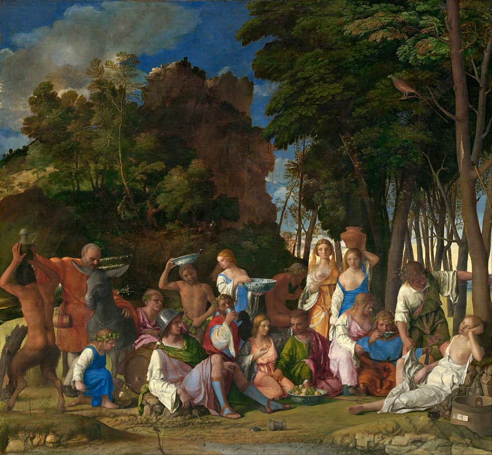 Giovanni Bellini & Titian, The Feast of the Gods, 1514-29, National Gallery of Art, Washington, DC, USA. painters of the Venetian Renaissance.