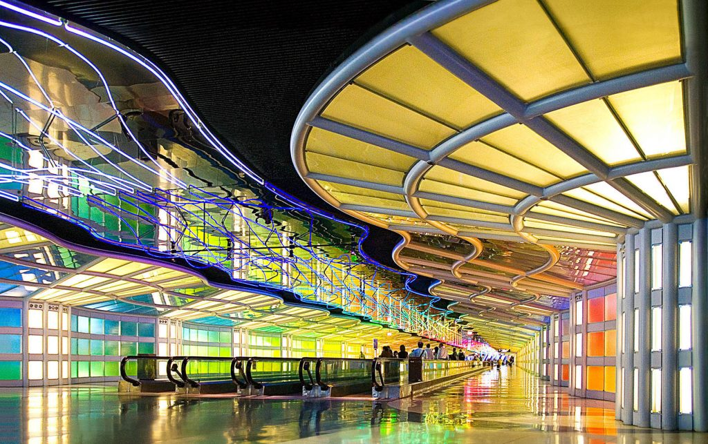 Helmut Jahn, United Airlines Terminal, Chicago O'Hare International Airport, 1987, Chicago, US