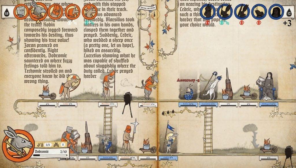 Screenshot of Inkulinati gameplay