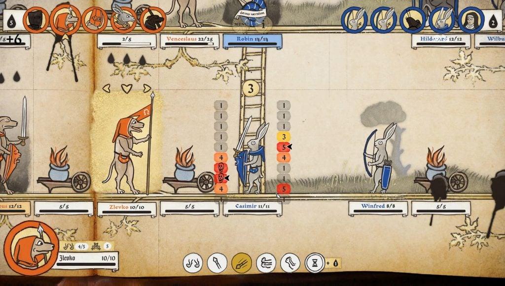 Screenshot of Inkulinati gameplay.