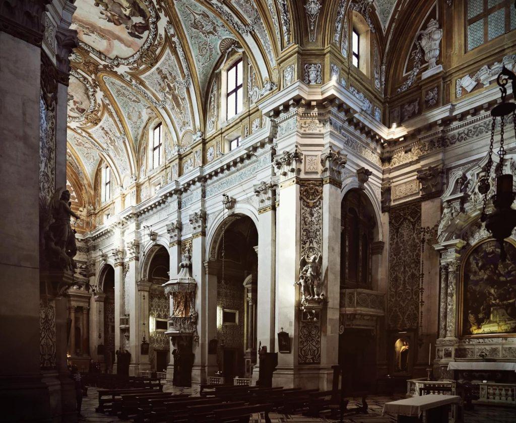 Interior of Chiesa dei Gesuiti, one of the churches in Venice