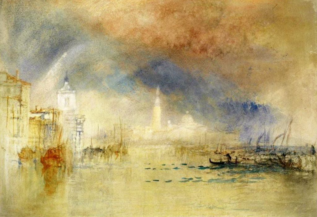 Joseph Mallord William Turner, Venice Looking Towards The Dogana With A Storm Approaching, 1834