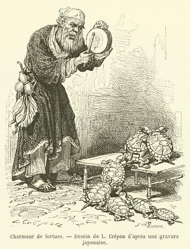 Charmeur de tortues. Illustration for Le Tour Du Monde (Hachette, 1869)