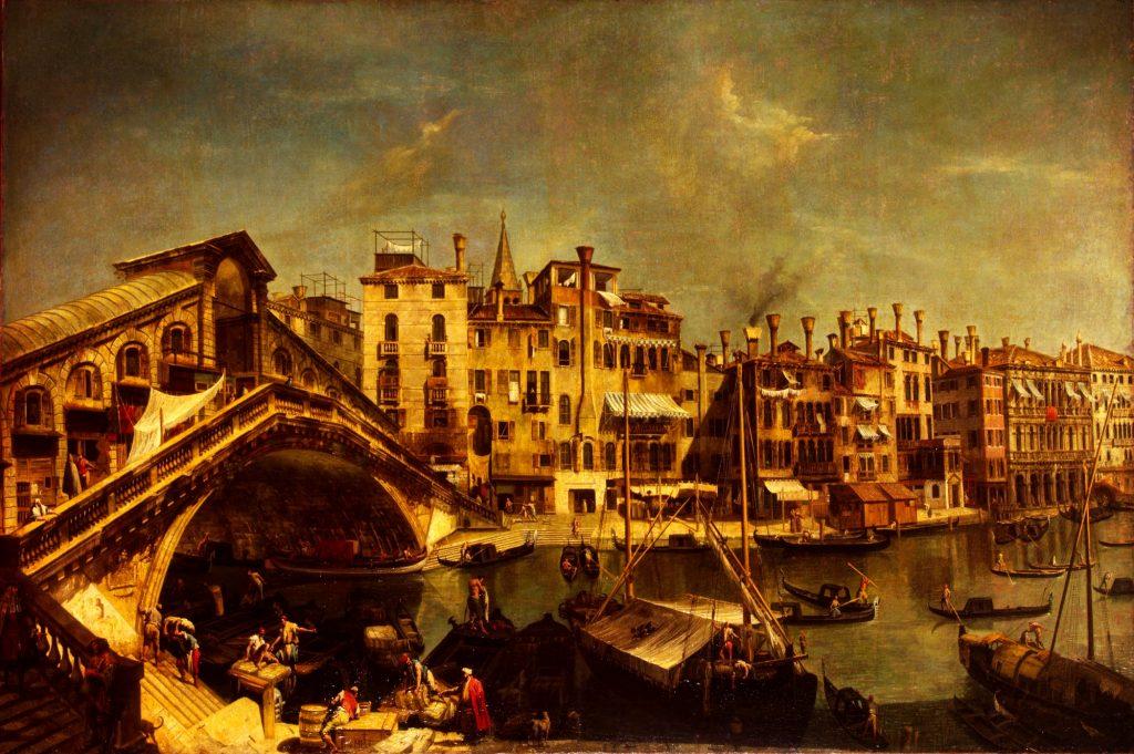 Michele Giovanni Marieschi, Rialto Bridge in Venice, 1740s, State Hermitage Museum, Saint-Petersburg, Russia.