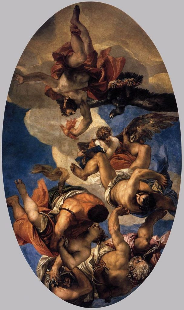 Paolo Veronese, Jupiter Expelling the Vices, 1556, Louvre, Paris, France. painters of the Venetian Renaissance