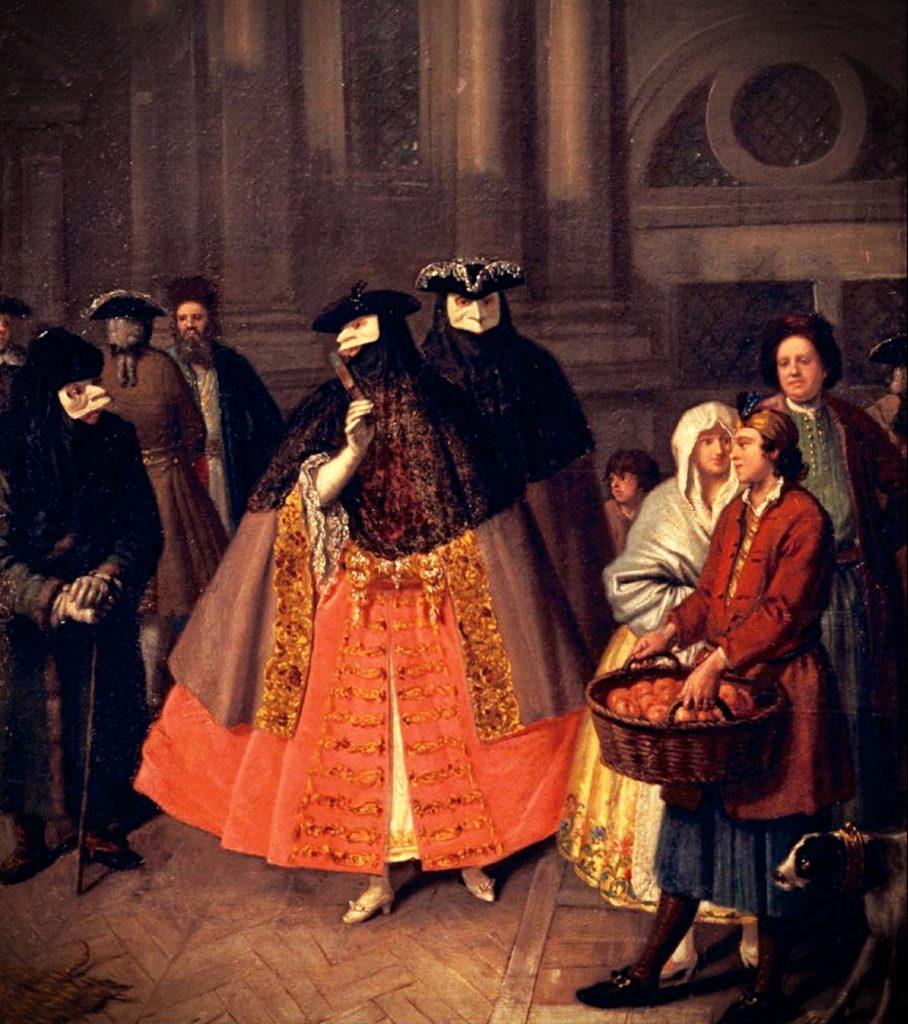 Pietro Longhi, Masked Conversation, ca. 1760, Fondazione Musei Civici di Venezia, Venice, Italy.
