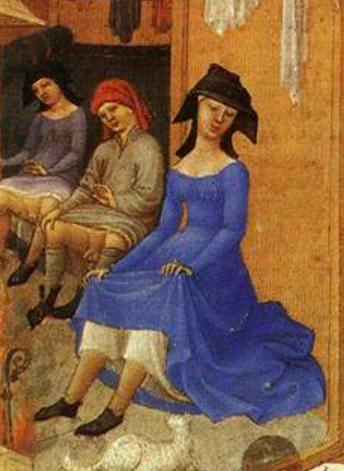 Herman, Paul and Jean de Limbourg, Très Riches Heures du Duc de Berry, February, 1412-1489, Musée Condé, Chantilly, France. Detail.