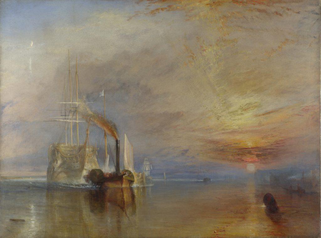 J.M.W. Turner, The Fighting Temeraire, 1839, National Gallery, London, U.K. Rivers in paintings.