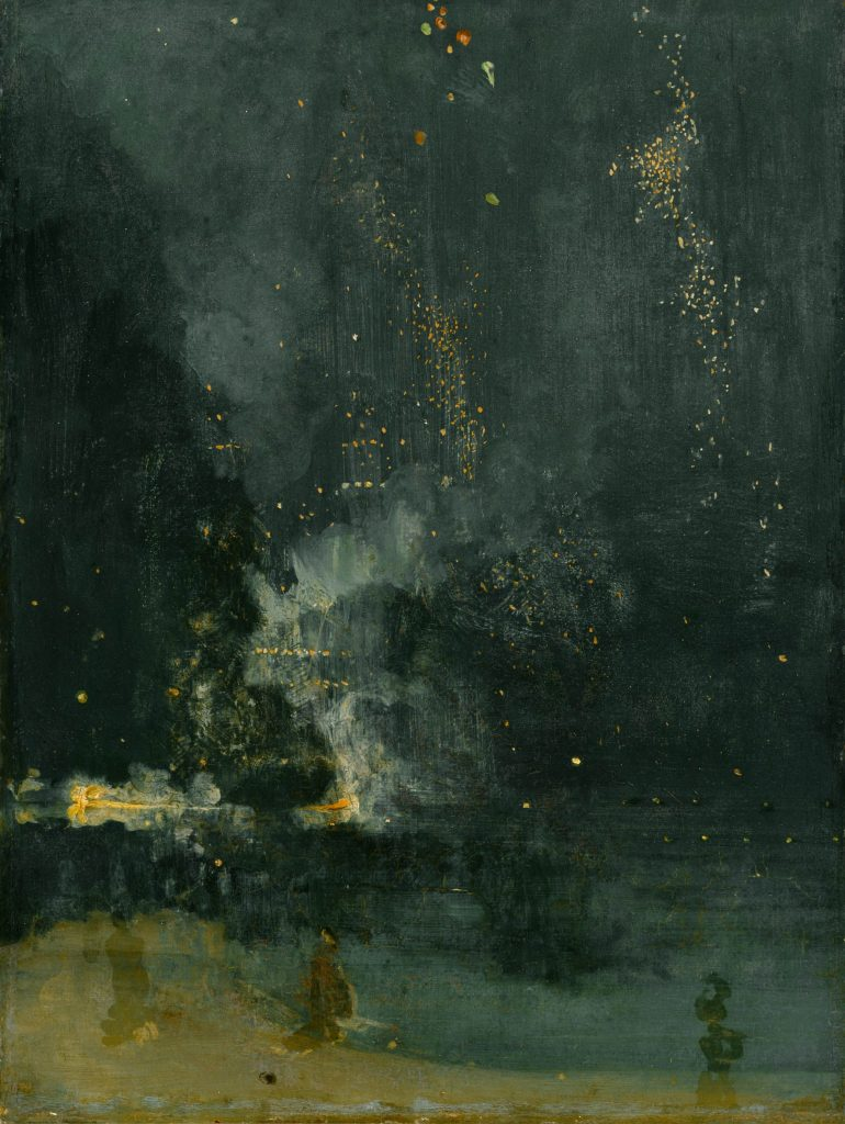 James Abbott McNeill Whistler, Nocturne in Black and Gold – The Falling Rocket, 1872-77, Detroit Institute of Arts, Detroit, U.S.A.