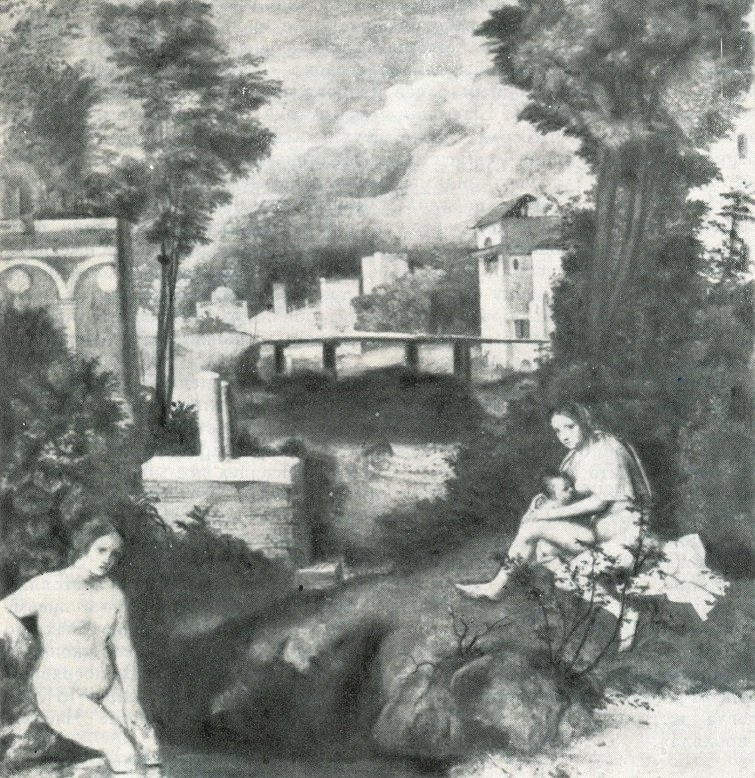 Giorgione, The Tempest, X-ray radiography.