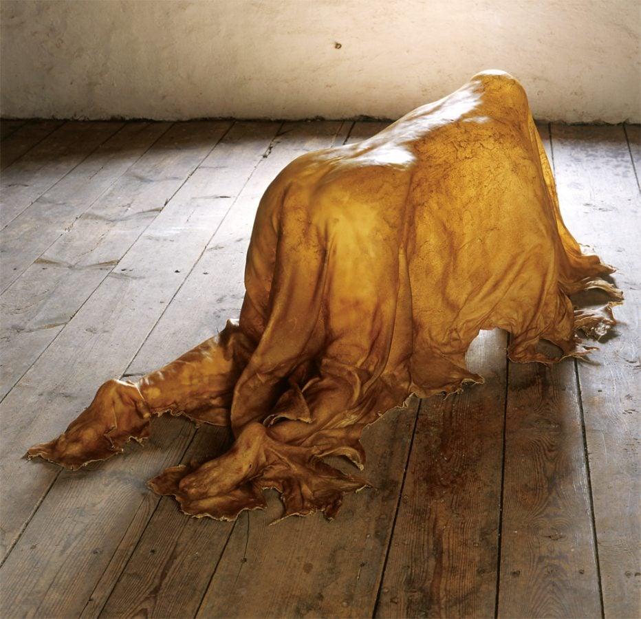 Great Women Sculptors: Janina Antoni, Saddle, 2000, full rawhide.