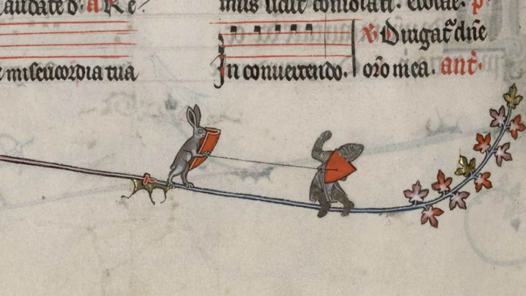 Medieval Killer Rabbits: Breviary of Renaud de Bar, 1302 - 1304, Ms 107, fol.-89r-141v, Bibliothèque de Verdun, Verdun, France.