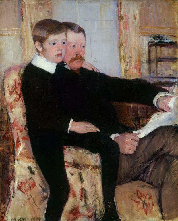 Mary Cassatt, Alexander J Cassatt and his son Robert Kelso, 1884-1885, Philadelphia Museum of Art, Philadelphia, PA, USA.