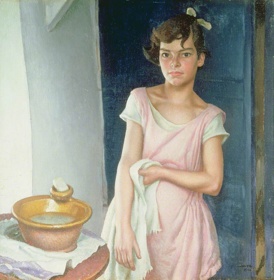 Dame Laura Knight, Susie and the Wash Basin, 1929, Harris Museum and Art Gallery, Preston, UK.