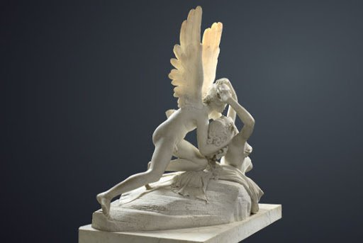 Antonio Canova, Psyche Revived by Cupid's Kiss, 1787-1793, Louvre, Paris, France. Detail.