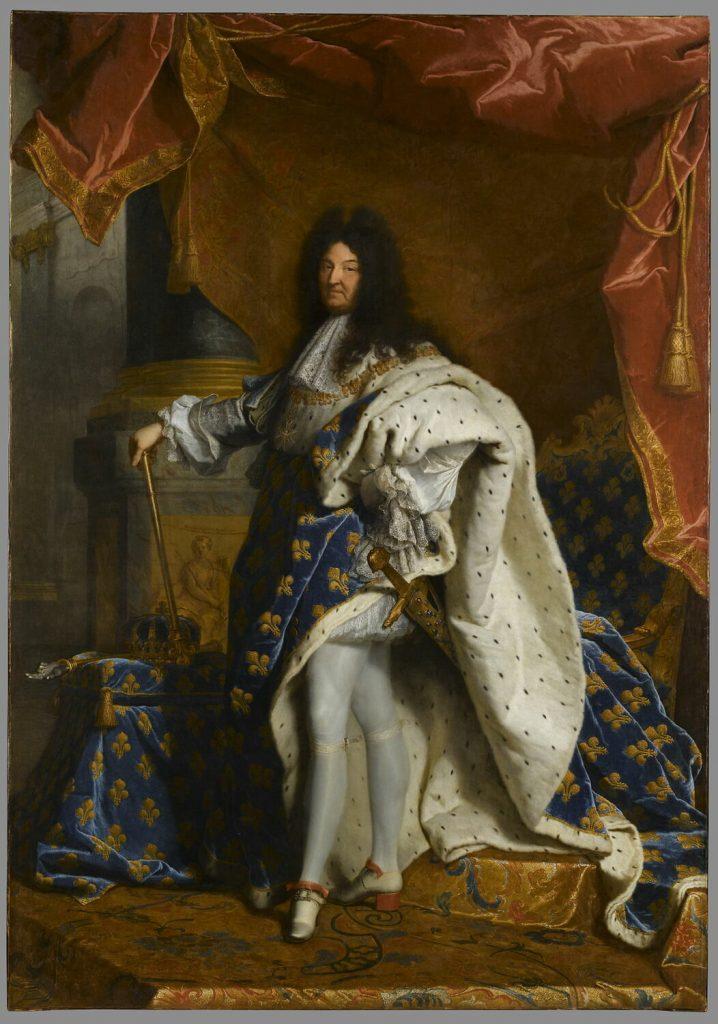 men in heels: Hyacinthe Rigaud, Portrait of Louis XIV of France, 1701, Musée de Louvre, Paris, France.