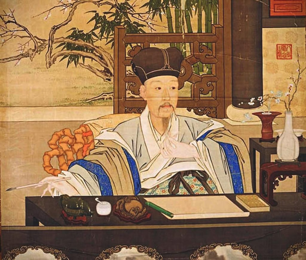 Giuseppe Castiglione, Qianlong in his studies, 18th century, Chinese painting.