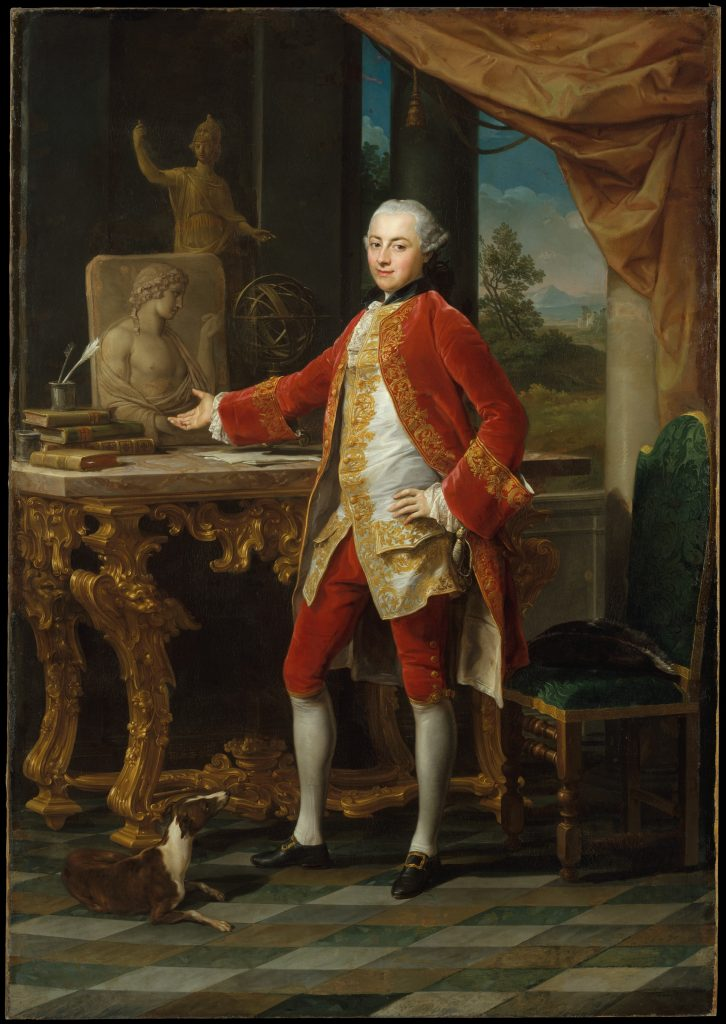 The Grand Tour: Pompeo Batoni, Portrait of a Young Man on Grand Tour, 1760-65, The Metropolitan Museum of Art, New York, NY, USA. A wealthy young man posing for a painting during the Grand Tour