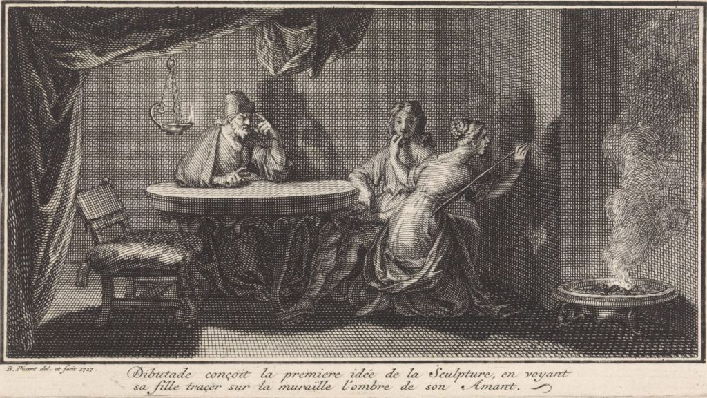 Bernard Picart, Discovery of sculpture, 1727, Rijksmuseum, Amsterdam, Netherlands.