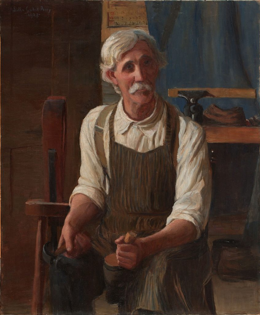 American female artists: Lilla Cabot Perry, The Cobbler (Portrait of Luther N. Smith), 1928, National Museum of Women in the Arts, Washington, DC, USA.