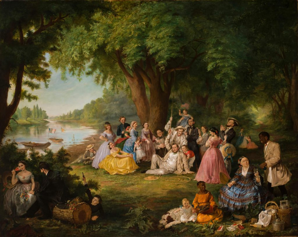 American female artists: Lilly Martin Spencer, The Artist and Her Family at a Fourth of July Picnic, NMWA National Museum of Women in the Arts