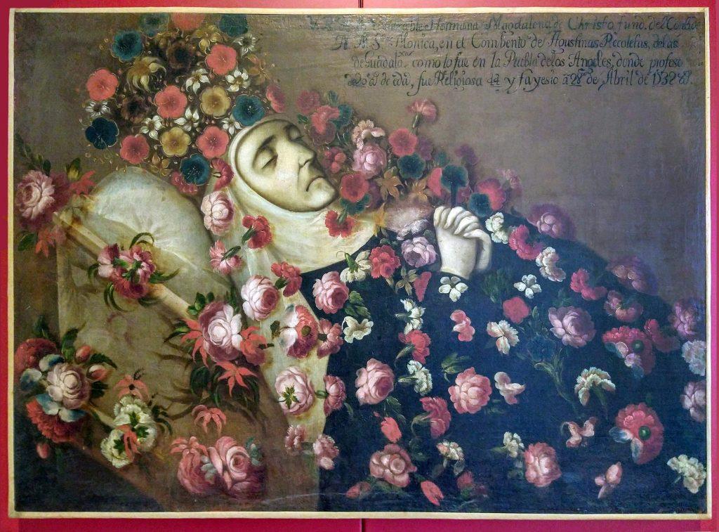 Crowned Nun Portrait of Sor Magdalena de Cristo, 1732, Museo Ex-Convento de Santa Monica, Puebla, Mexico. Photo by Luis Alvaz.