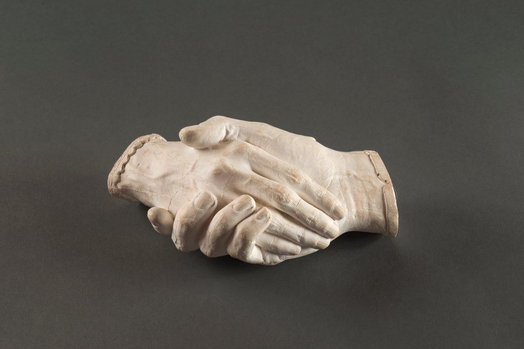 American female artists: Harriet Goodhue Hosmer, Clasped Hands of Elizabeth and Robert Browning, National Museum of Women in the Arts, Washington, DC, USA.