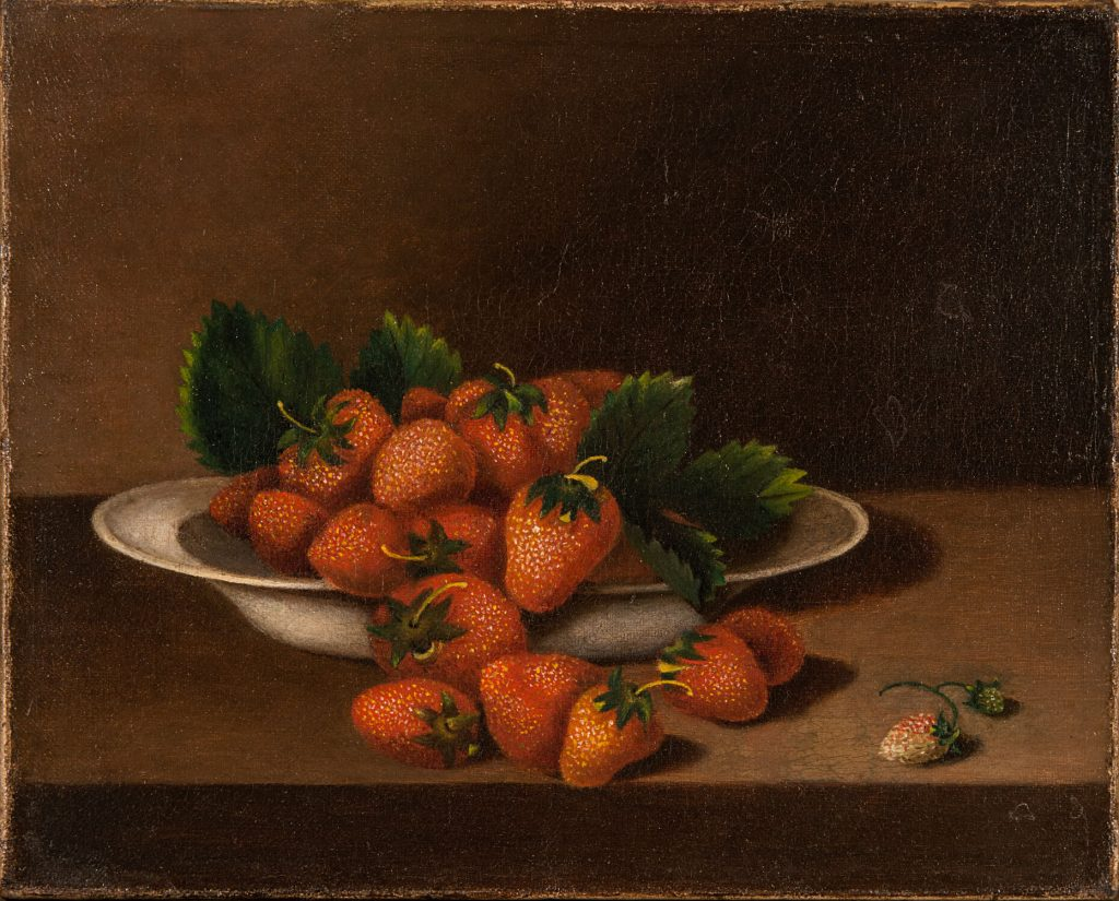 American female artists from National Museum of Women in the Arts: Anna Claypoole Peale, Still Life with Strawberries, NMWA
