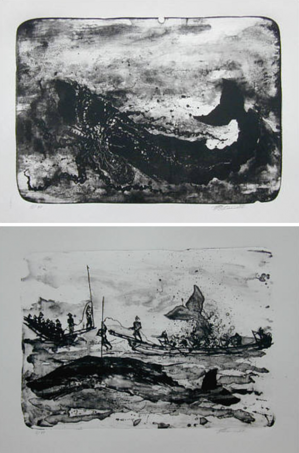 Illustrations for the book Moby Dick, 1999, Randers Art Museum.