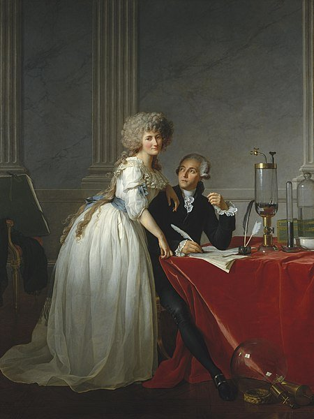 Jacques-Louis David, Portrait of Antoine-Laurent Lavoisier and his Wife, 1788, The Metropolitan Museum of Art, New York, NY, USA.