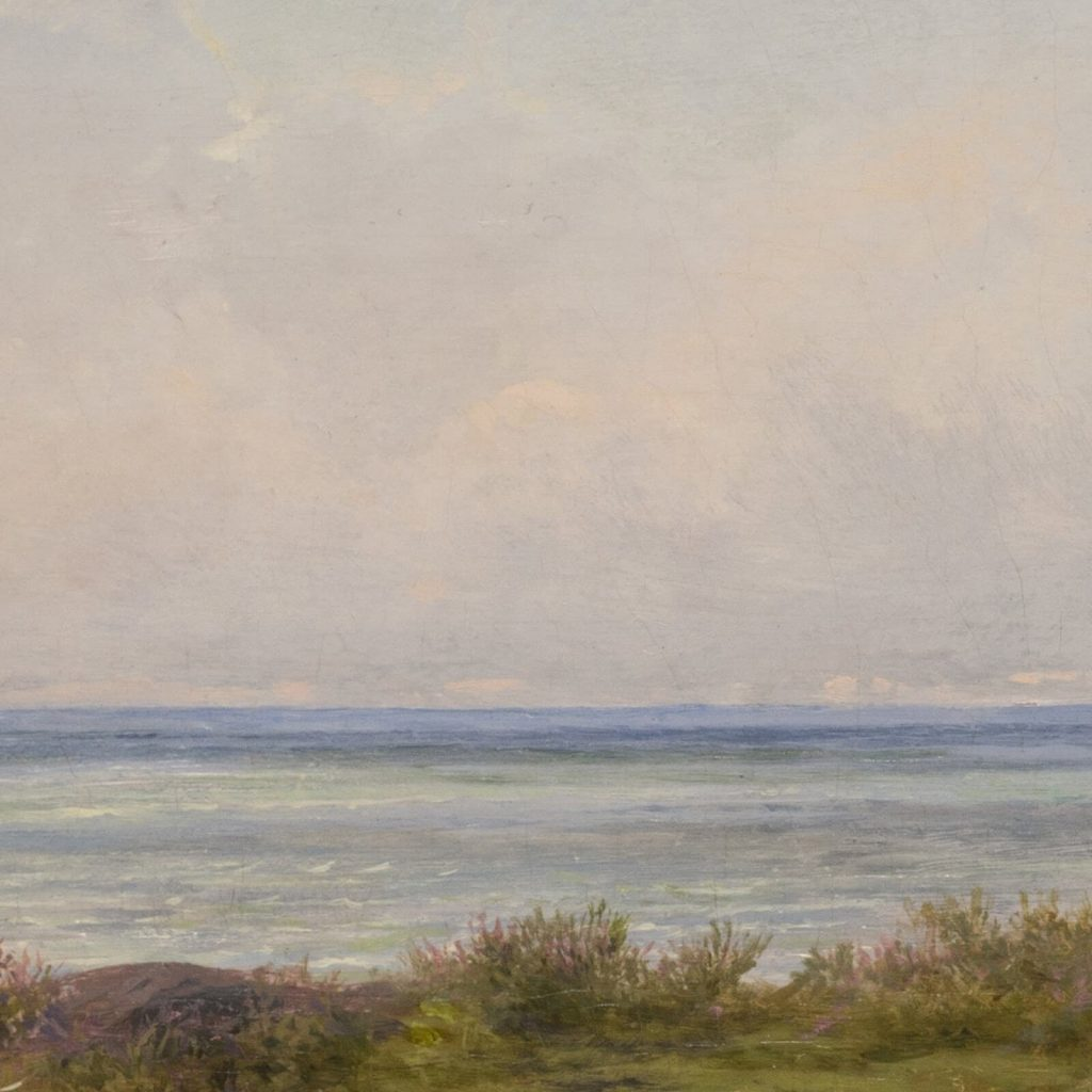 Rosa Bonheur, Sheep by the Sea, 1865, National Museum of Women in the Arts, Washington DC, USA. Enlarged Detail.
