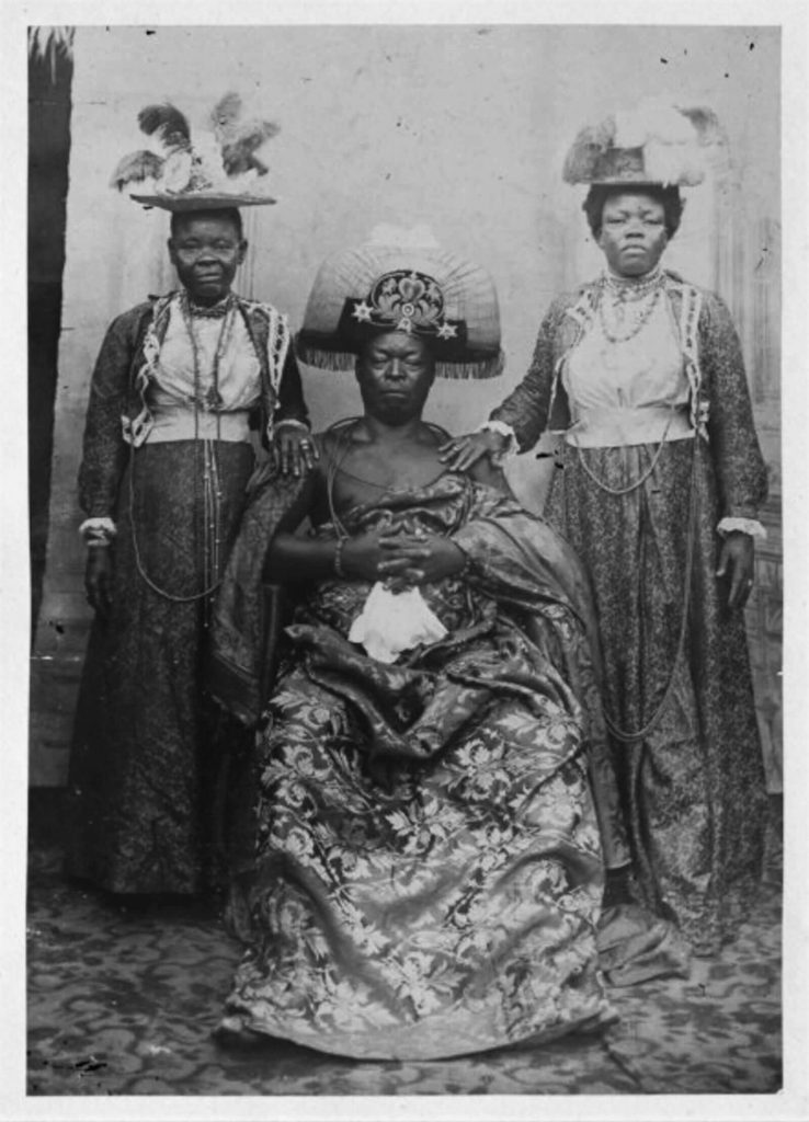 Queen Mother Idia of Benin, 16th century, British Museum, London, UK. Enlarged Detail. Historical Photograph.