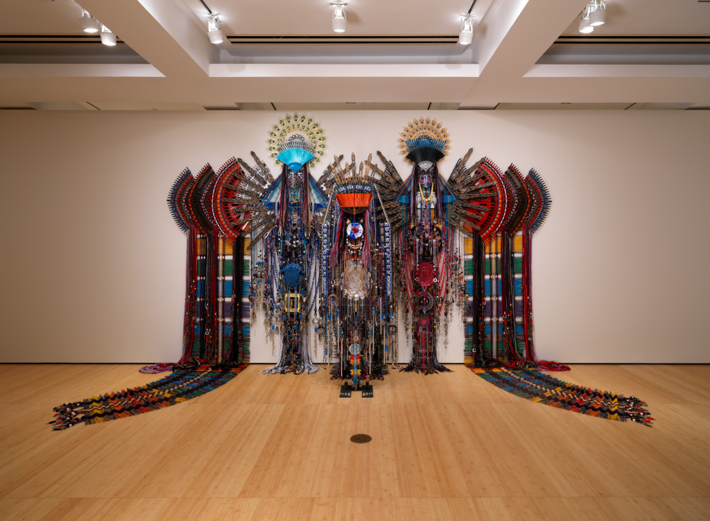 New York City Triennals 2021: Installation view of Asia Society Triennial: We Do Not Dream Alone at Asia Society Museum, New York, October 27, 2020–June 27, 2021. Anne Samat, Follow Your Heart Wholeheartedly, 2020. Photograph by Bruce M. White.