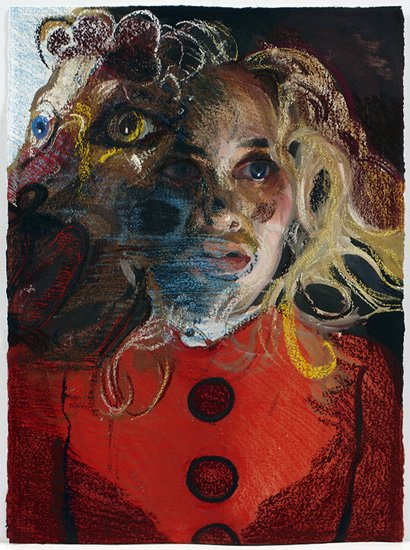 Natalie Frank, All Fur III, 2011-14, gouache and chalk pastel on arches paper