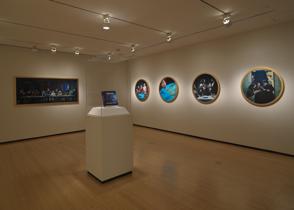 New York City Triennals 2021: Installation view of Vibha Galhotra's The Final Feast as part of the Asia Society Triennial: We Do Not Dream Alone at Asia Society Museum, New York.
