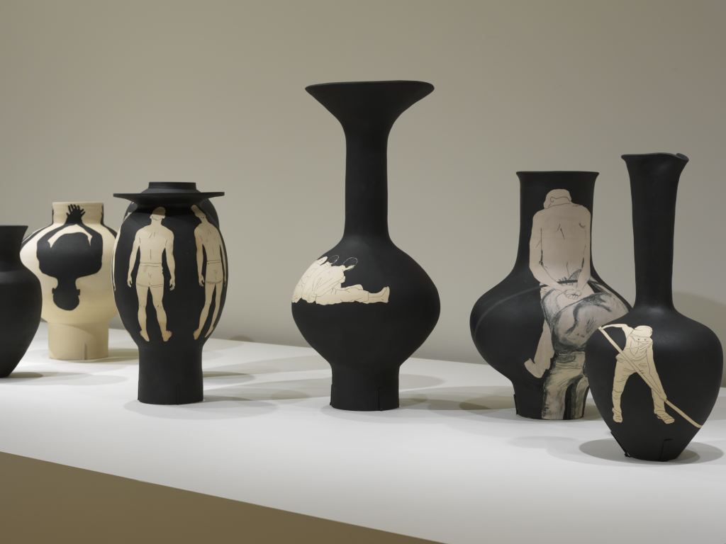 New York City Triennals 2021: Installation view of Reza Aramesh, Study of the Vase as Fragmented Bodies, 2021, terra-cotta and white clay. Photograph by Bruce M. White.