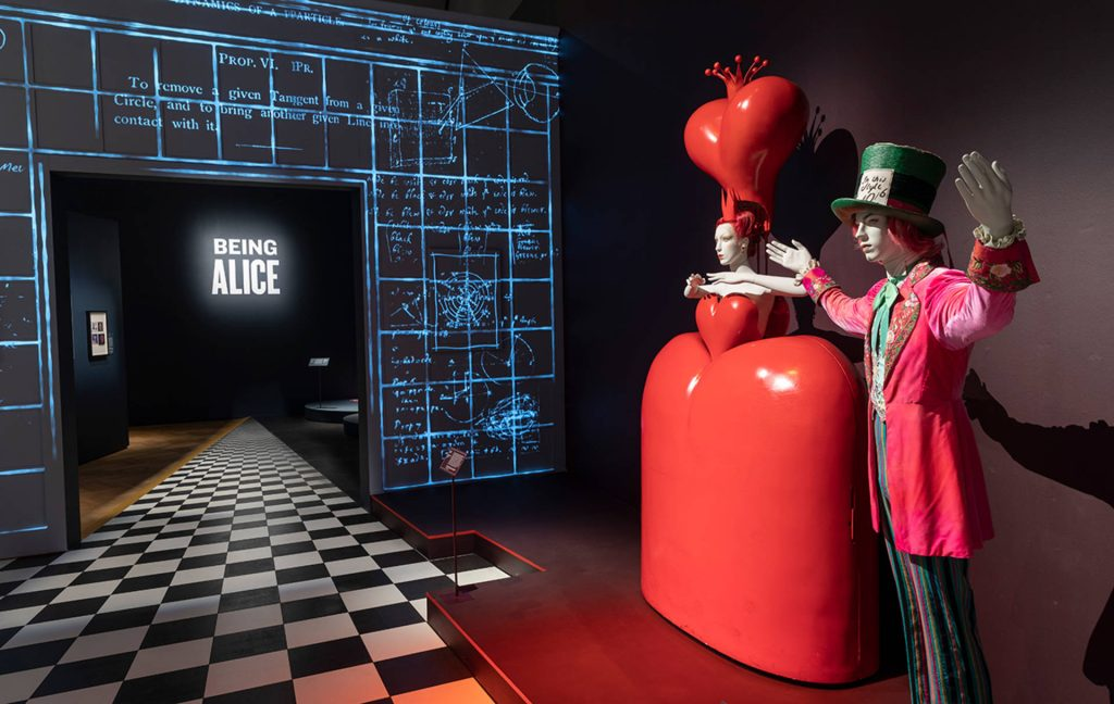 Installation View: Alice: Curiouser and Curiouser, 2021, Victoria and Albert Museum, London, UK. Exhibitions Summer 2021