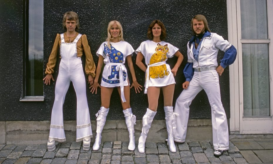 """Men in Heels: ABBA and their """"cat suits"""""""