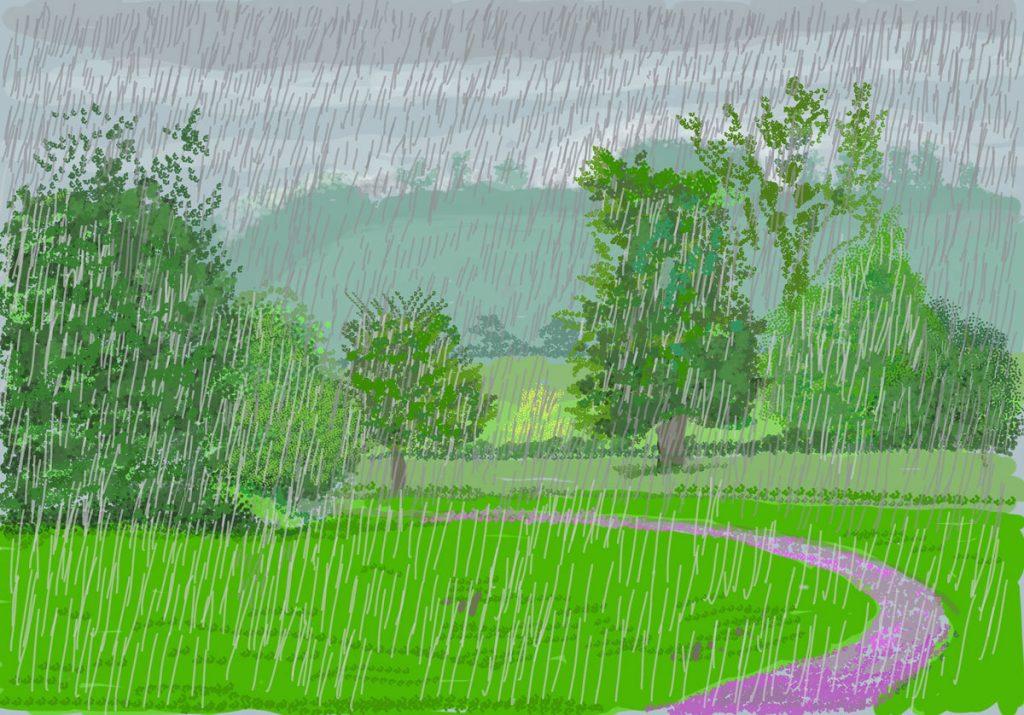 David Hockney, No. 262, 28th April 2020, iPad painting, Royal Academy of Arts, London, UK. Exhibitions Summer 2021