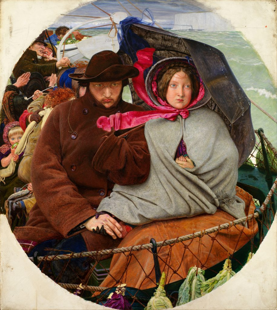Ford Madox Brown, The Last Of England, 1850s, Birmingham Museum and Art Gallery, Birmingham, UK. Traveling