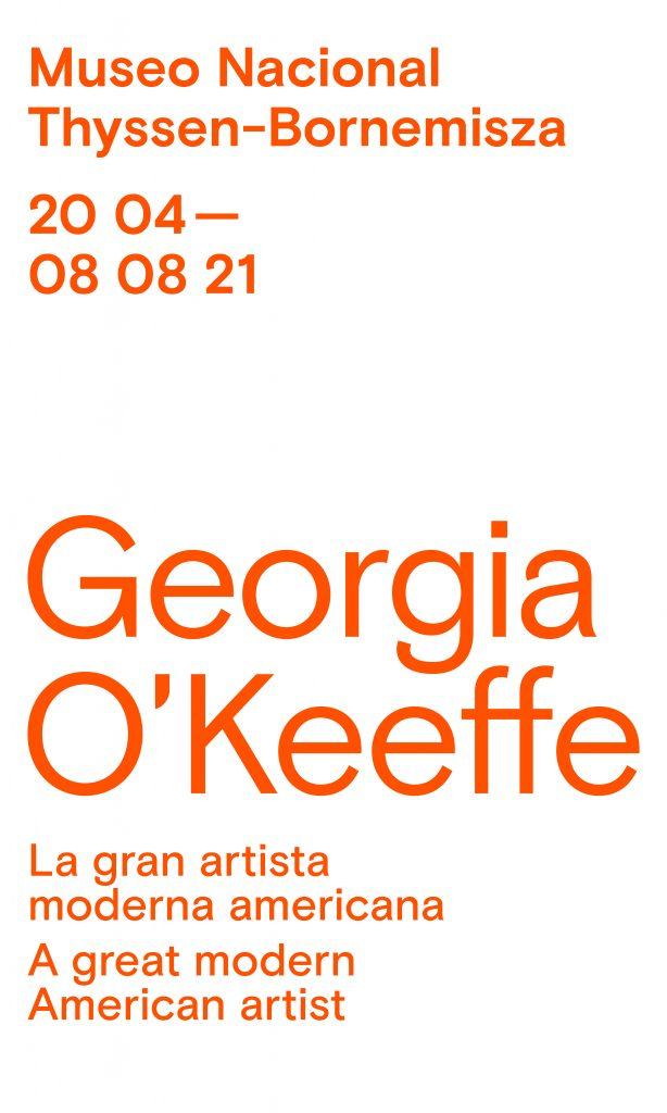 Must-See Exhibitions in Summer 2021: Exhibition cover for Georgia O'Keeffe in Museo Nacional Thyssen-Bornemisza, Madrid, Spain.